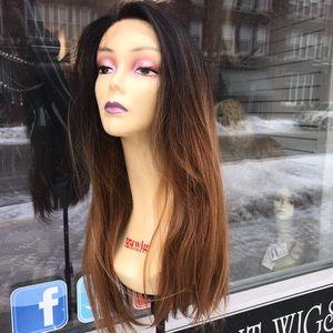 Accessories - Ombré Fullcap wig human hair Blende 2019 Wig